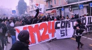 Xm24 Bologna, sgomberata ex caserma Sani: blitz della polizia e manifestanti in corteo