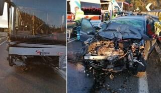 Grosseto, scontro tra un'auto e un pullman vicino a Civitella Paganico: due morti