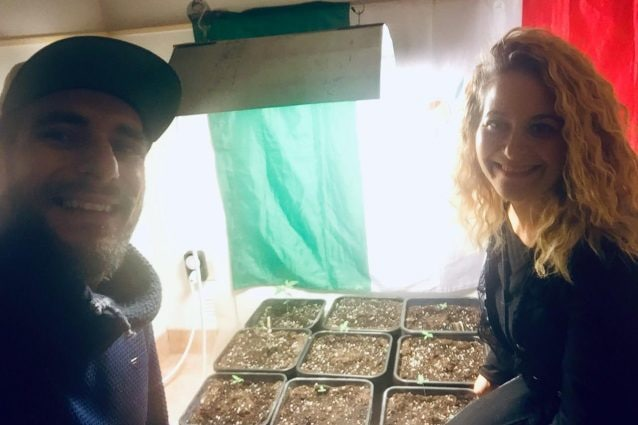 Alessandro Raudino e Florinda Vitale del Cannabis Cura Sicilia Social Club