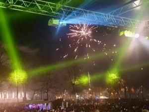 Il Capodanno in piazza a Udine (Facebook).