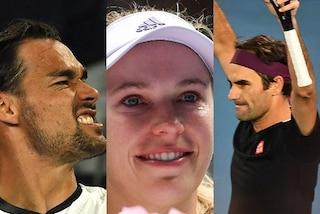 Rimonte di Fognini e Federer, lacrime Wozniacki: la prima settimana degli Australian Open