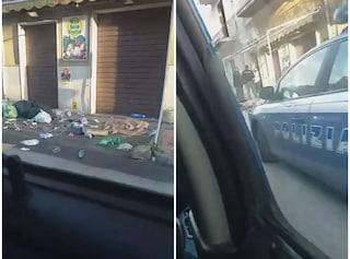 Gela, caos in strada: donna getta piatti, bicchieri e bottiglie dal balcone, arriva la polizia