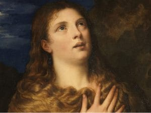 "Tiziano, ""Maddalena penitente"" (1533), Galleria Palatina, Firenze."