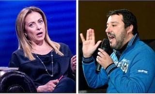 """Salvini non fa mea culpa e replica a Meloni: """"Amo il gioco di squadra, ma ci metto la faccia"""""""