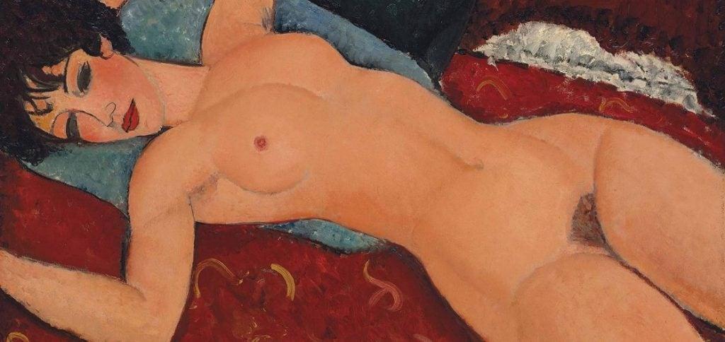 """Amedeo Modigliani, """"Nudo sdraiato"""" (1917-19178), collezione privata, Cina."""