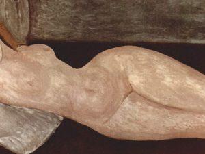 """Amedeo Modigliani, """"Nudo disteso"""" (1919), collezione privata, Parigi."""