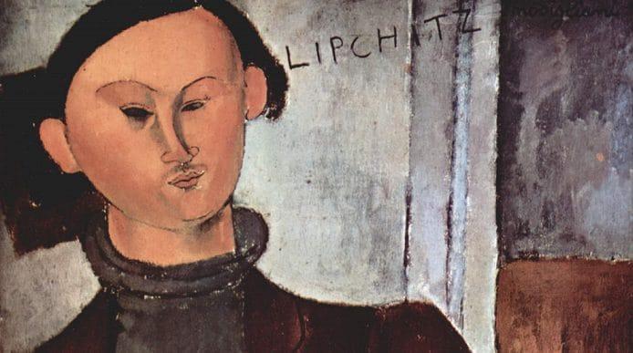 """Amedeo Modigliani, """"Jacques Lipchitz e sua moglie Bertha"""" (particolare), 1916, Art Institute, Chicago."""