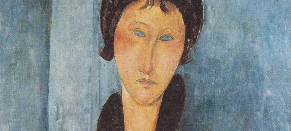 "Amedeo Modigliani, ""Donna dagli occhi azzurri"" (1918), Musée d'Art Moderne de la Ville, Parigi."