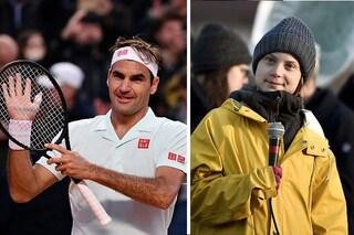 """Federer risponde a Greta Thunberg: """"Parlerò con lo sponsor, siamo dalla stessa parte"""""""