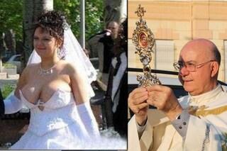 """""""Le spose arrivano quasi nude"""", monito del prete: """"Basta abiti scollati per le nozze in chiesa"""""""