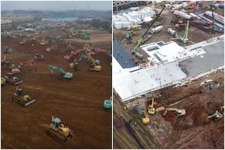 Wuhan, pronto il primo edificio dell'ospedale dei record: terminato in 4 giorni