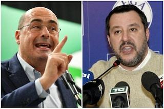 """Salvini risponde a Zingaretti: """"Scellerato chi toglie la mascherina? Pensi a quelle fantasma"""""""