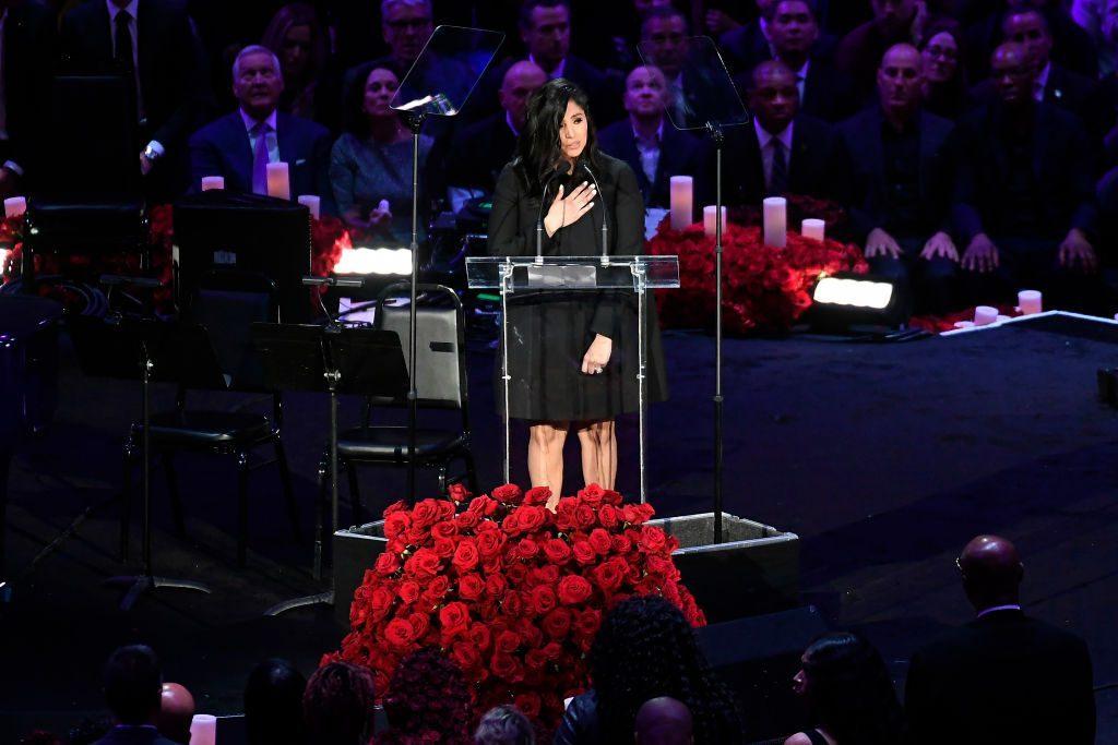 Il toccante momento del discorso di Vanessa Bryant