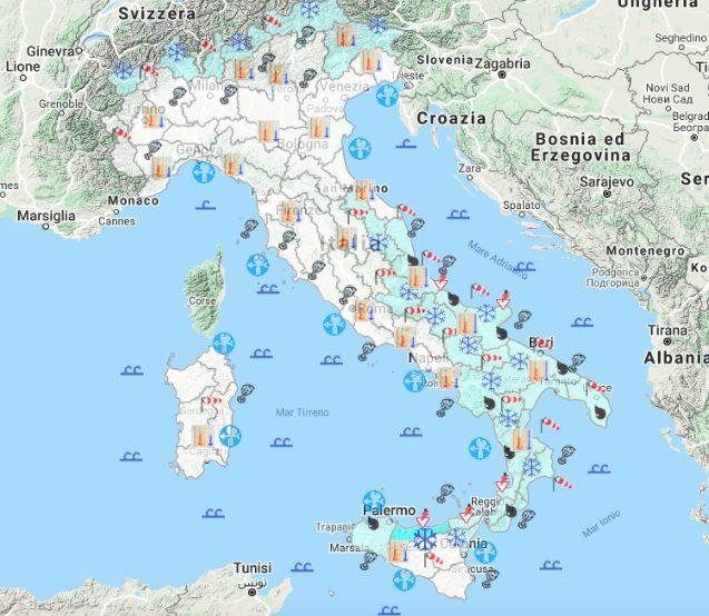 Meteo Cartina Italia.Previsioni Meteo 5 Febbraio Record Di Caldo A Torino