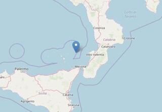Terremoto tra Calabria ed Eolie: scossa di magnitudo 3.7 nel Mar Tirreno