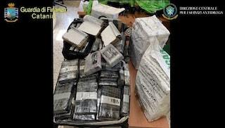 Fiumi di cocaina dalla Colombia a Catania: sequestrati 406 kg di droga, 7 misure restrittive