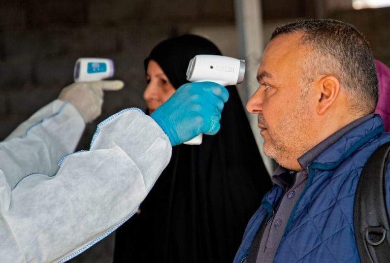 Controlli a Shalamjah, città irachena al confine con l'Iran (Gettyimages)