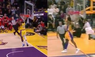 """LeBron James schiaccia come Kobe Bryant: """"Fratello mio, questa è per te"""""""