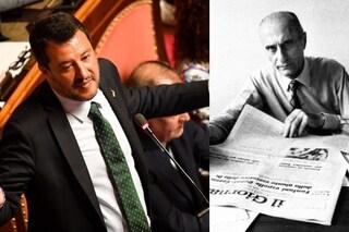 Matteo Salvini cita Indro Montanelli in Senato, quasi correttamente