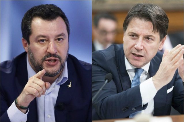 Matteo Salvini e il premier Giuseppe Conte