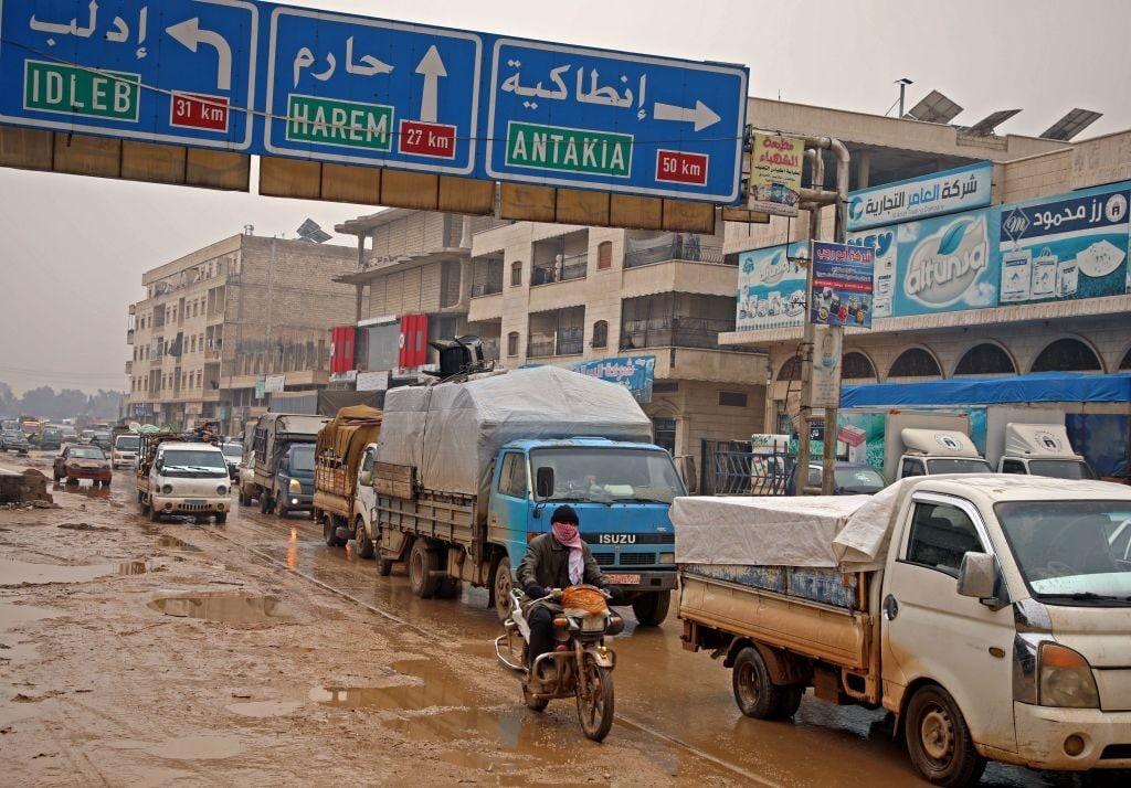 Dall'inizio di dicembre 2019 circa 520mila persone sono state sfollate nella Siria nord–occidentale (Gettyimages)