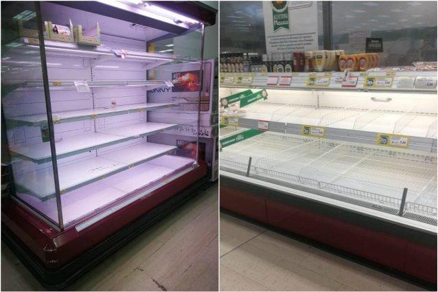 I supermercati presi d'assalto a Milano