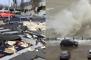 Maltempo, la tempesta Ciara fa cinque morti in Europa. Raffiche di Libeccio sull'Italia