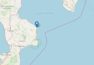 La terra trema in Calabria: nuova scossa di magnitudo 2.9 nel crotonese