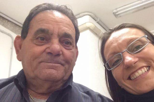 Adriano Trevisan, 78enne di Vo' Euganeo, con la figlia. L'anziano è deceduto per Coronavirus