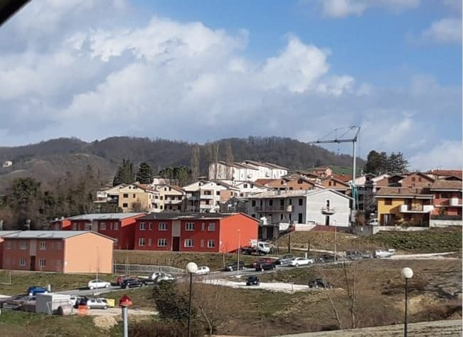 L'edificio danneggiato. Foto per gentile concessione di Cronache Maceratesi