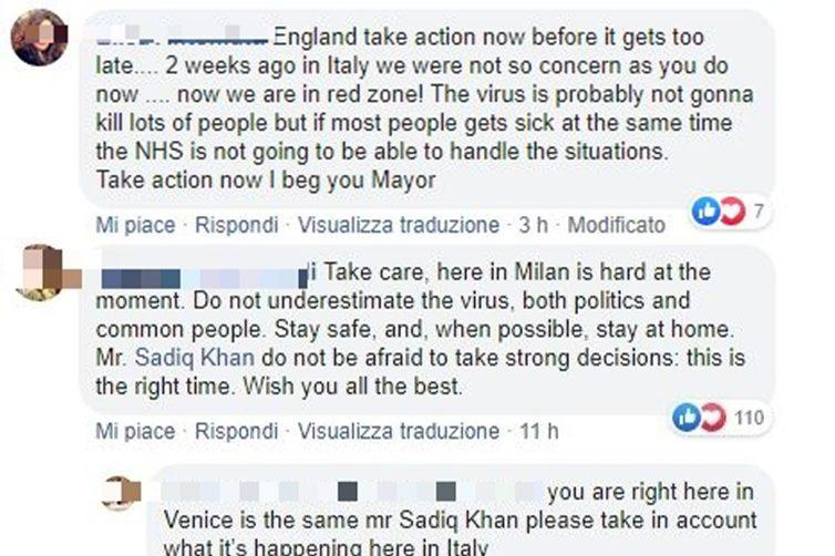 Decine di italiani chiedono al sindaco di Londra
