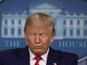 Il presidente degli Stati Uniti Donald Trump
