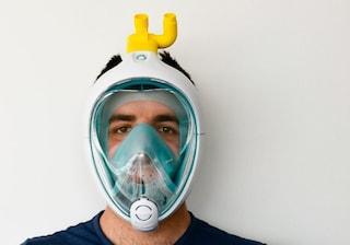 La maschera da sub si trasforma in un respiratore  per combattere il coronavirus