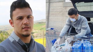 """Coronavirus, Alessio, 19enne siciliano, consegna la spesa ad anziani e bisognosi: """"Vanno aiutati"""""""