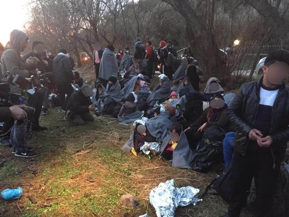 Alcuni profughi appena arrivati sull'isola di Lesbo, in Grecia (Liana Spyropoulou)