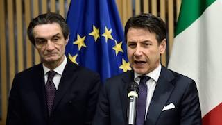 """L'anticipazione di Fontana (Lombardia): """"Domani Conte annuncia decreto, misure fino a 4 maggio"""""""