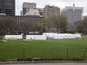 L'ospedale da campo a Central Park