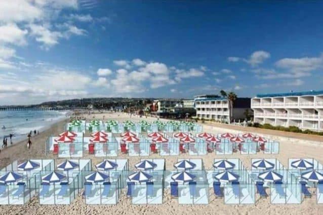 Box in plexiglass in spiaggia, l'ipotesi per l'estate segnata dal Coronavirus