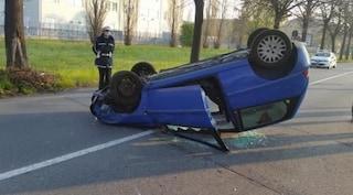 Torino, infermiera si ribalta in auto dopo turno di notte