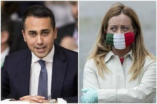 """Migranti, Meloni a Di Maio: """"Vuole fermare le partenze? Buongiorno, da anni chiediamo blocco navale"""""""