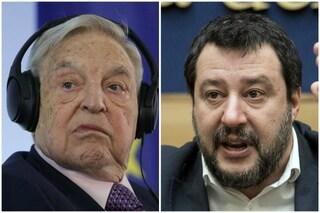 """Soros contro Salvini: """"Preoccupato per l'Italia, vuole portarla fuori dall'Ue"""""""