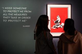 Alla mostra su Banksy il personale sanitario anti-Covid entra gratis