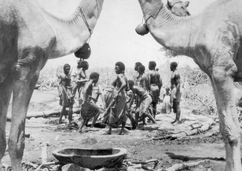 Confine tra la Somalia britannica e italiana nel 1935
