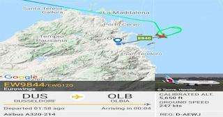 L'aereo dell'Eurowings da Dusseldorf arriva a Olbia, ma l'aeroporto è chiuso e torna indietro