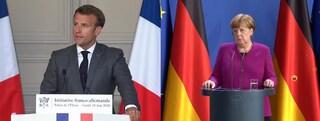 Macron e Merkel presentano il piano europeo da 500 miliardi per la ripresa dell'economia in Europa