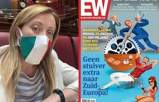 """""""Italiani dipinti come parassiti sul giornale olandese"""", ira di Meloni contro settimanale di destra"""