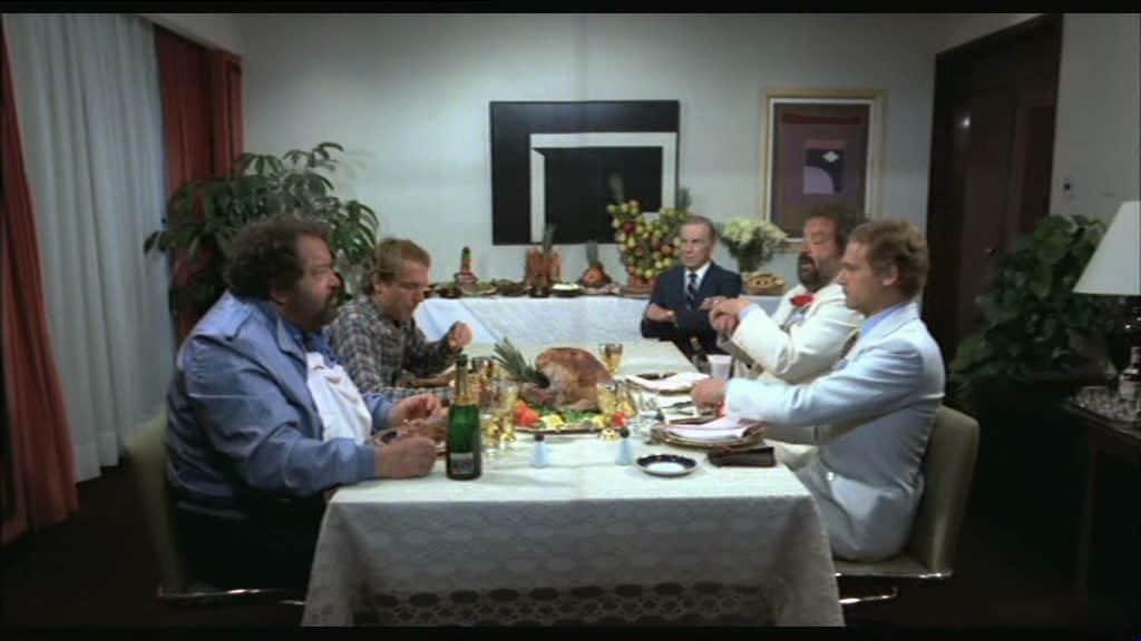 """Bud Spencer e Terence Hill in una scena di """"Non c'è due senza quattro"""""""