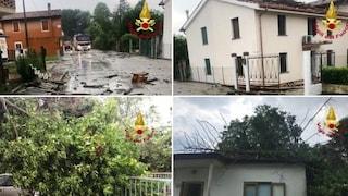 Maltempo e raffiche di vento, a Teglio Veneto tetti scoperchiati e albero sulla casa di cura