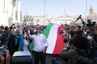 Manifestazione 2 giugno, chi era in piazza con Salvini e Meloni rischia di essere multato