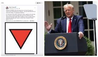 """""""Trump usa simboli nazisti"""". Facebook rimuove un post del Presidente degli Stati Uniti"""